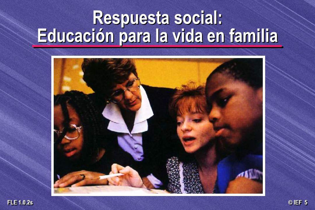 © IEF 16 FLE 1.0.2s El papel de los educadores hacia los padres Apoya la privacidad del joven Apoya la autoridad de los padres Basada en el Carácter Basada en los anticonceptivos