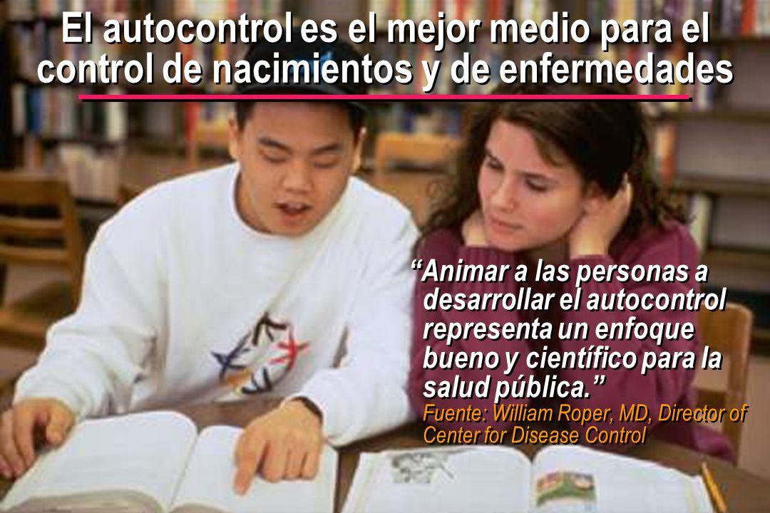 © IEF 64 FLE 1.0.2s El autocontrol es el mejor medio para el control de nacimientos y de enfermedades Animar a las personas a desarrollar el autocontr