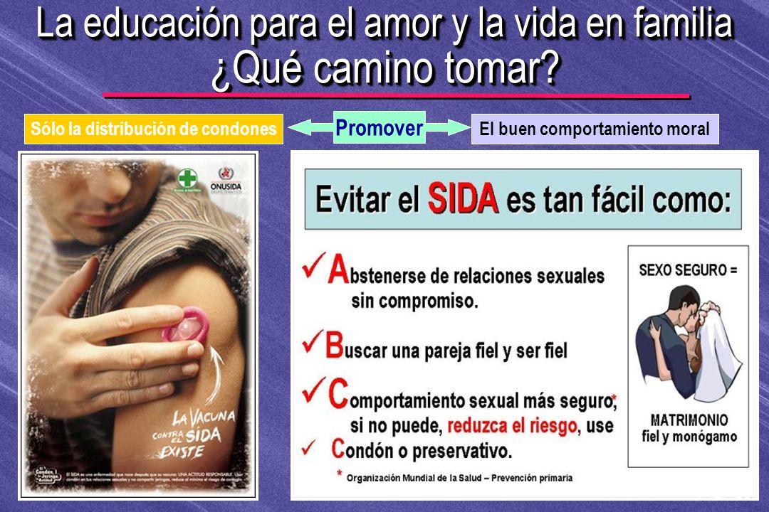 © IEF 83 FLE 1.0.2s La educación para el amor y la vida en familia ¿Qué camino tomar? El buen comportamiento moralSólo la distribución de condones Pro