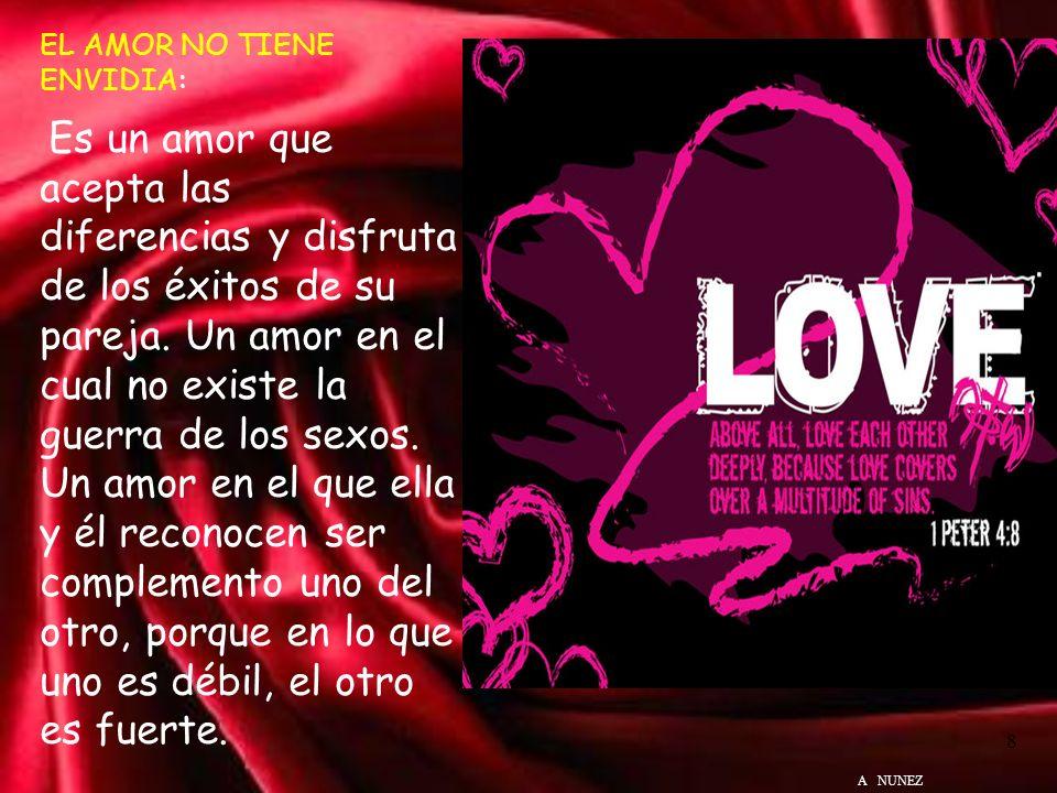 EL AMOR ES BENIGNO: Es un amor generoso, un amor considerado y comprensivo. Un amor que respeta los sentimientos de su pareja. Un amor que reconoce el