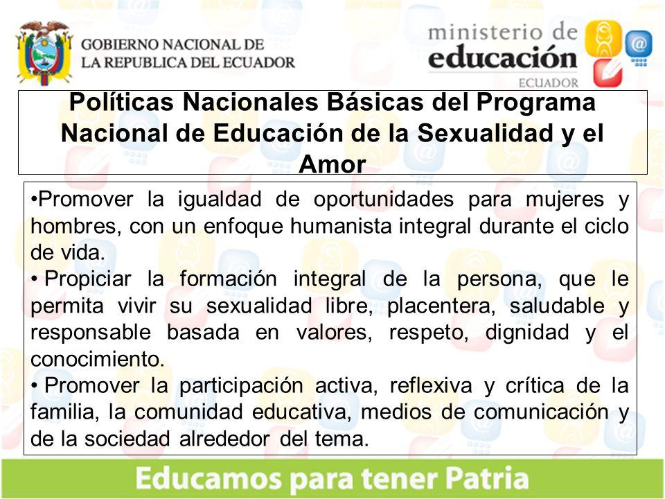 Educación de la sexualidad Integral con énfasis en la prevención del VIH/SIDA.