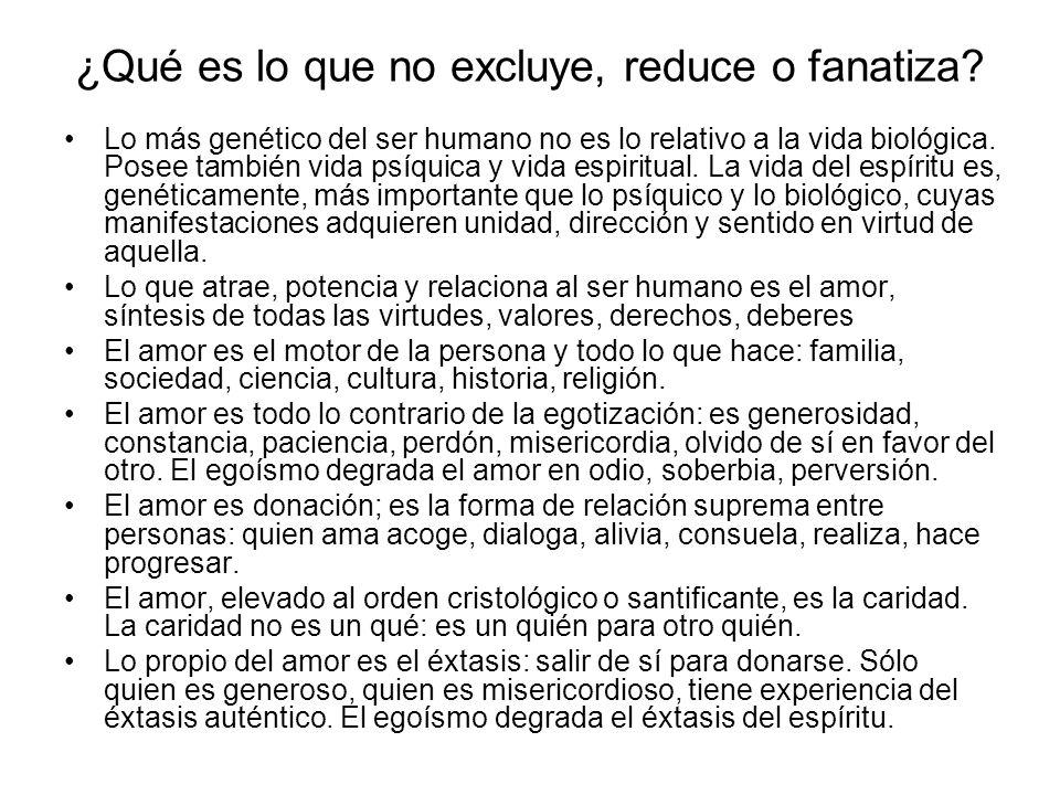 Concepción genética del Amor En la medida que amamos nos realizamos, progresamos, sentimos la paz, la alegría y la libertad del corazón.