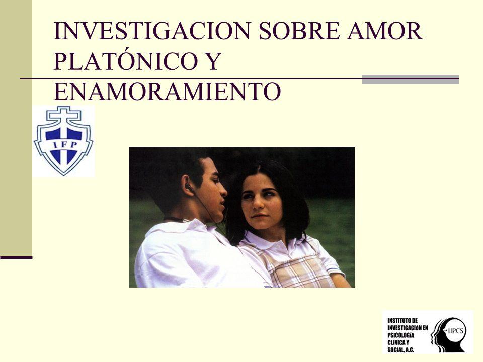INVESTIGACION SOBRE AMOR PLATÓNICO Y ENAMORAMIENTO