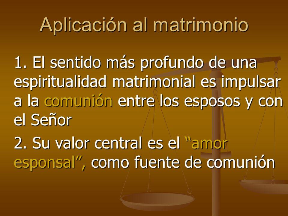 Aplicación al matrimonio 1.