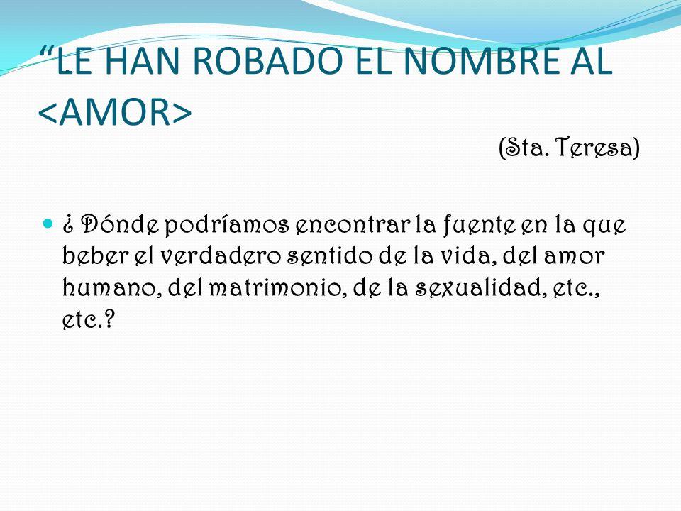 LE HAN ROBADO EL NOMBRE AL (Sta.