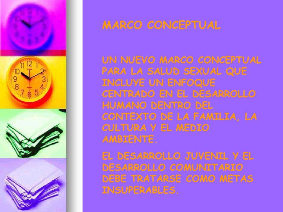 MARCO CONCEPTUAL UN NUEVO MARCO CONCEPTUAL PARA LA SALUD SEXUAL QUE INCLUYE UN ENFOQUE CENTRADO EN EL DESARROLLO HUMANO DENTRO DEL CONTEXTO DE LA FAMI
