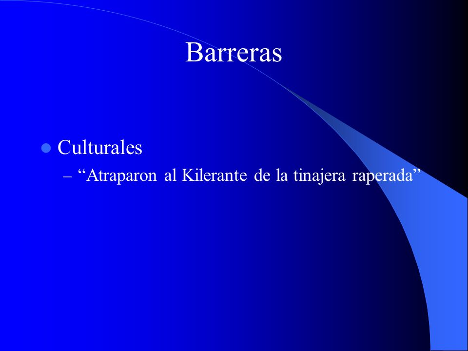 Barreras Culturales – Atraparon al Kilerante de la tinajera raperada