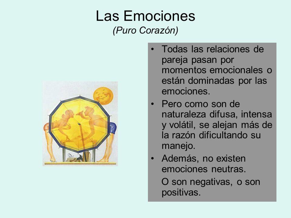 Las Emociones (Puro Corazón) Todas las relaciones de pareja pasan por momentos emocionales o están dominadas por las emociones. Pero como son de natur