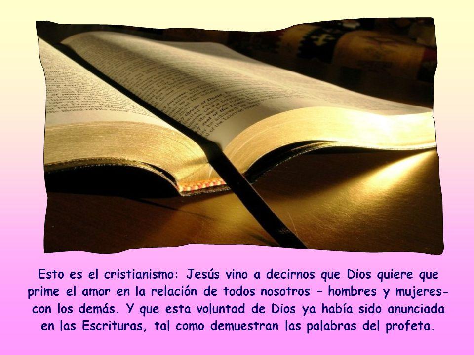 Jesús cita una frase del profeta Oseas demostrando que aprecia el concepto que contiene; se trata en efecto de la norma según la cual Él mismo se comp