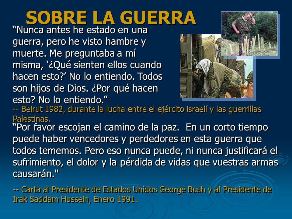 La más terrible pobreza es la soledad y el sentimiento de no ser amado. La más grande enfermedad hoy en día no es la lepra ni la tuberculosis, sino el