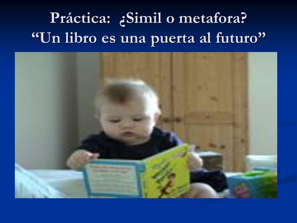 Práctica: ¿Simil o metafora? Un libro es una puerta al futuro