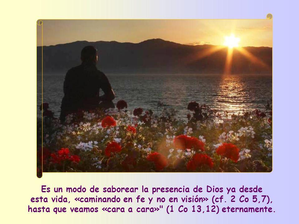 Y aquí está el fruto de esta pureza que siempre hay que reconquistar: que se puede ver a Dios, es decir, comprender su acción en nuestra vida y en la