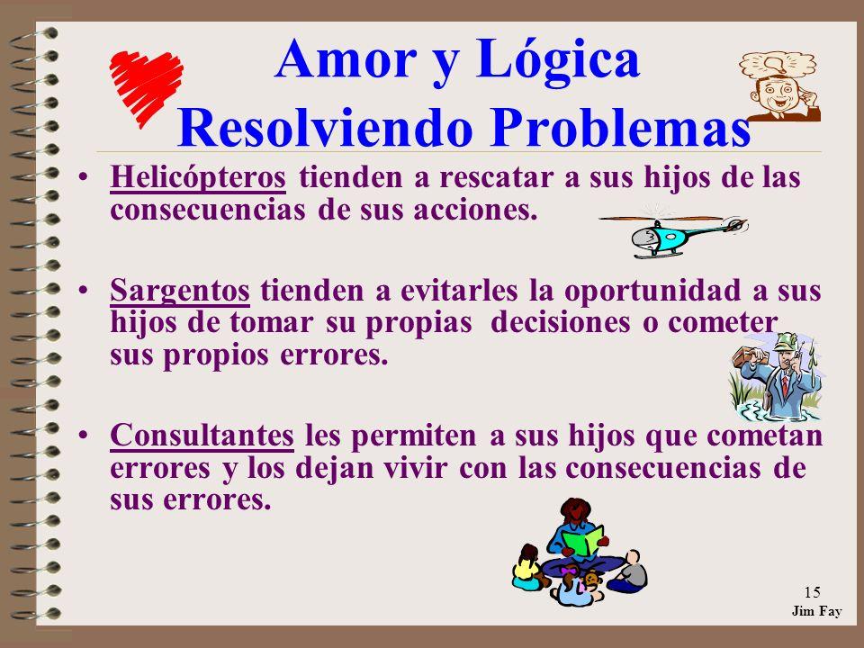 Jim Fay 15 Amor y Lógica Resolviendo Problemas Helicópteros tienden a rescatar a sus hijos de las consecuencias de sus acciones.