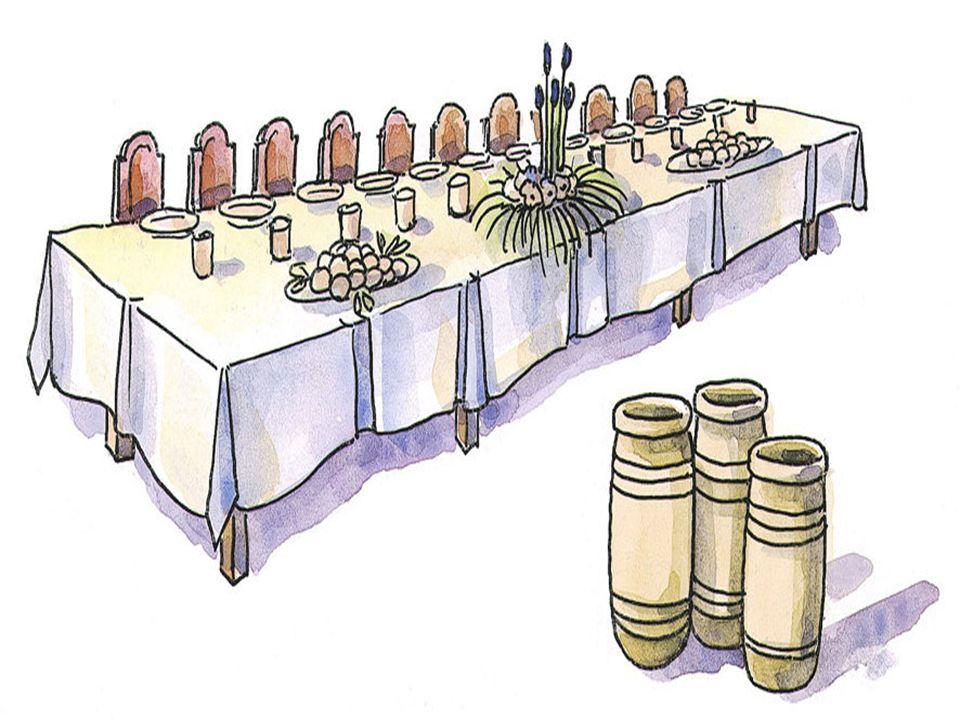 + La 1ª es para los convidados que escogían los primeros puestos: Aquel que ocupó el primer puesto tuvo que cederlo a otro más importante. A aquel que