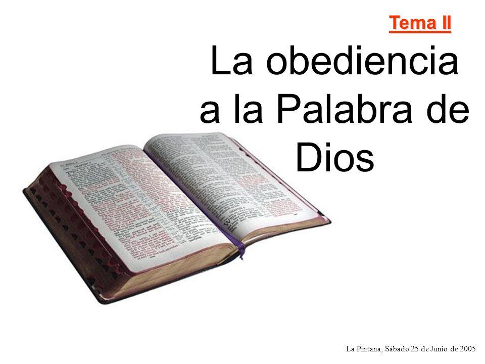 La obediencia a la Palabra de Dios Versiculo clave Bienaventurados los que guardan sus testimonios; y con todo el corazón le buscan.