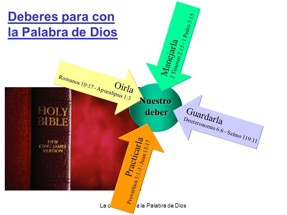 La obediencia a la Palabra de Dios Las Bienaventuranzas para los amantes de la Palabra a) Llega a ser un árbol junto a las aguas Salmo 1:1-3 b) Tiene descanso en medio de adversidades Salmo 94:12-13