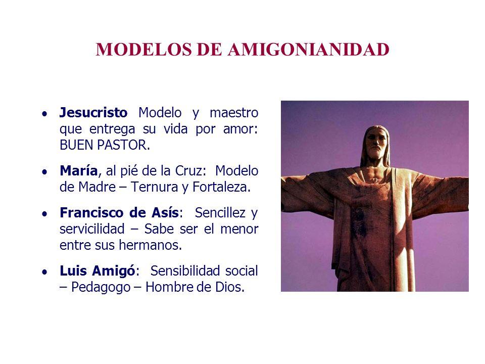 MODELOS DE AMIGONIANIDAD Jesucristo Modelo y maestro que entrega su vida por amor: BUEN PASTOR. María, al pié de la Cruz: Modelo de Madre – Ternura y