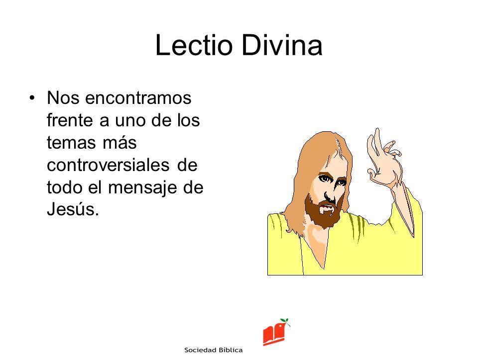 La Lectio Divina Seguimos los pasos de: –Lectura ( Lectio ) –Meditación ( Meditatio ) –Contemplación ( Contemplatio ) –Oración ( Oratio ) –Actuar ( Actio )