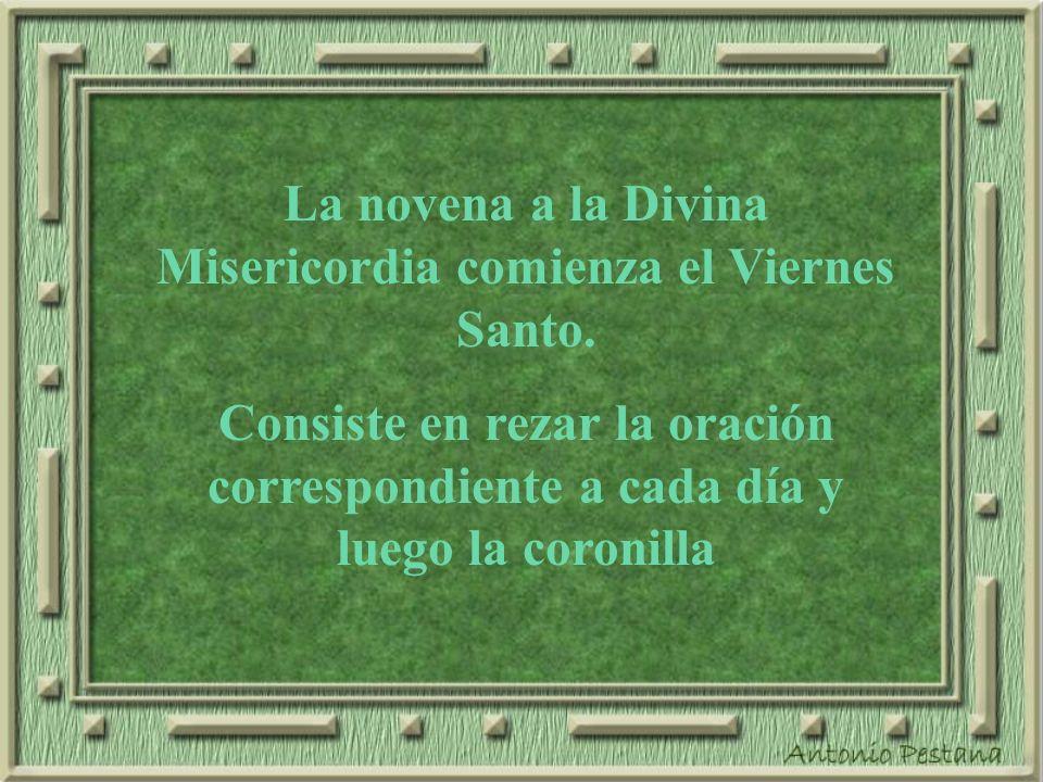 La novena a la Divina Misericordia comienza el Viernes Santo.