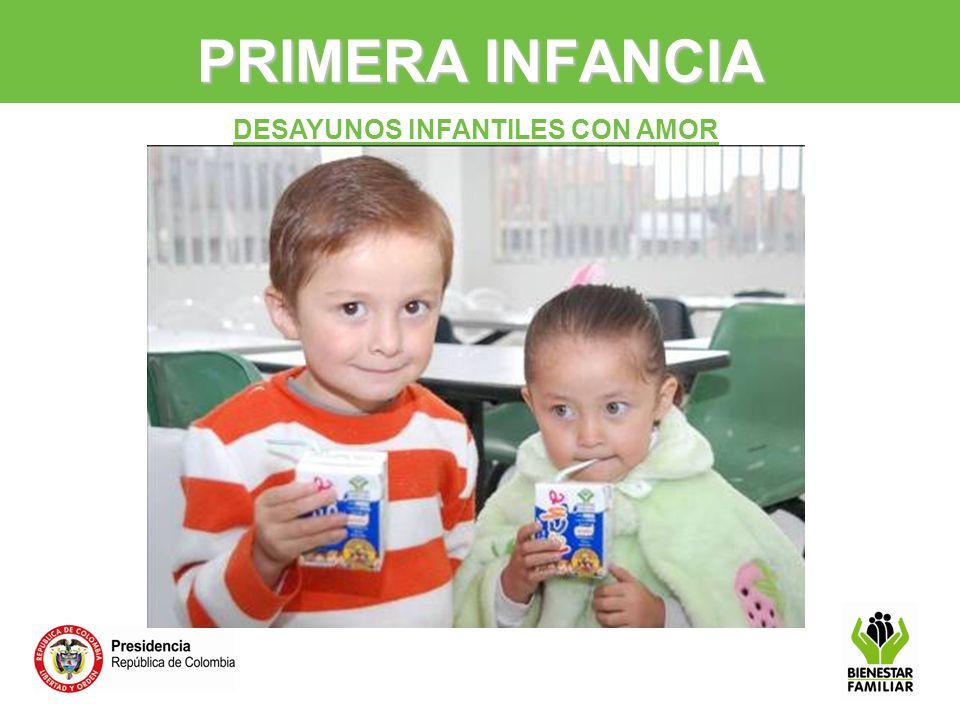 DESAYUNOS INFANTILES CON AMOR PRIMERA INFANCIA