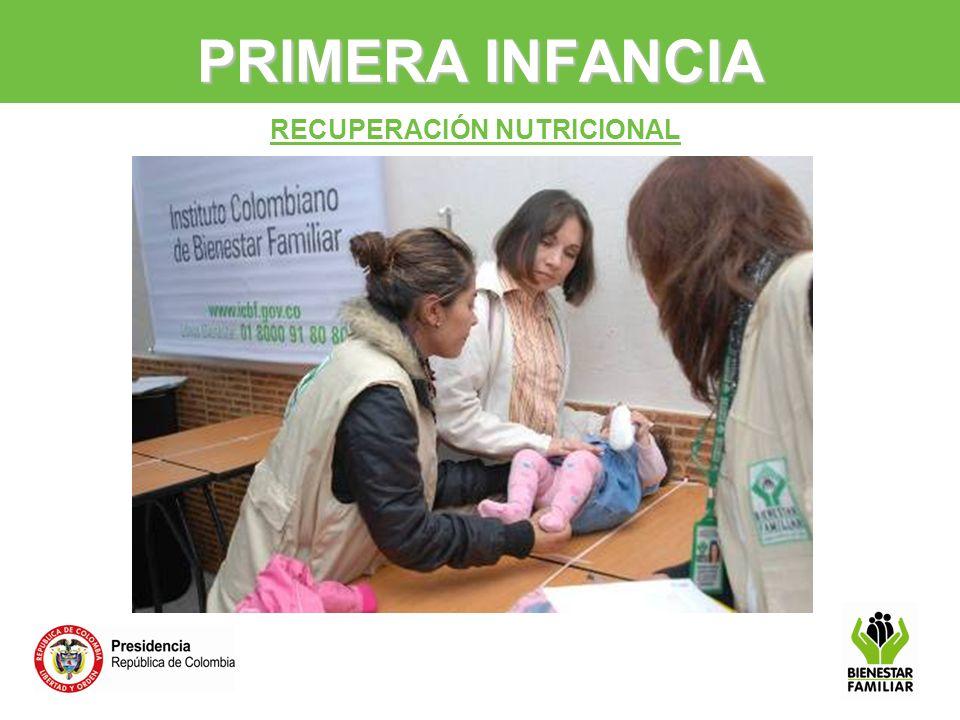 PRIMERA INFANCIA RECUPERACIÓN NUTRICIONAL