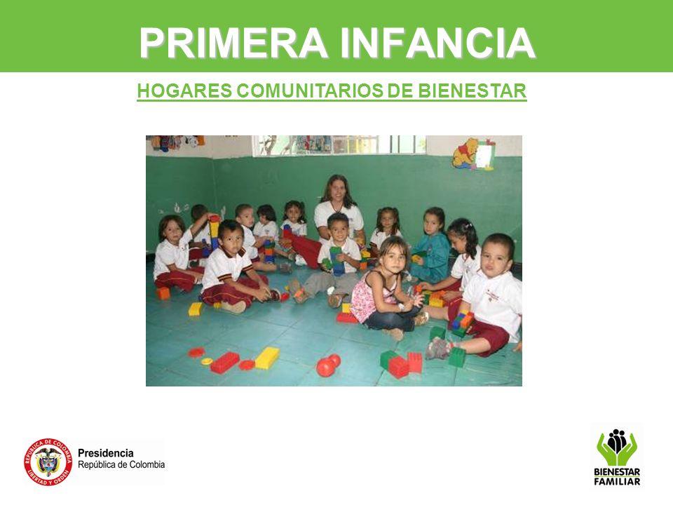 HOGARES COMUNITARIOS DE BIENESTAR PRIMERA INFANCIA