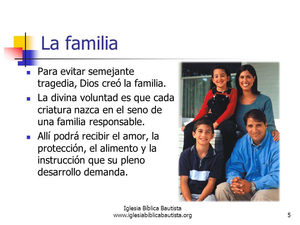 La familia Para evitar semejante tragedia, Dios creó la familia. La divina voluntad es que cada criatura nazca en el seno de una familia responsable.