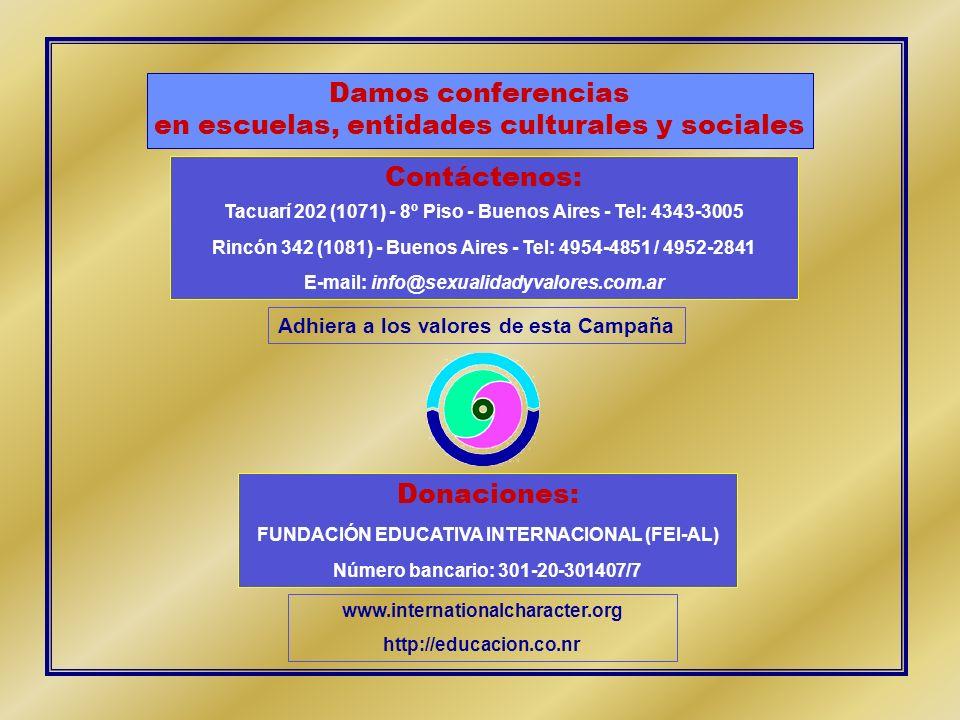 Contáctenos: Tacuarí 202 (1071) - 8º Piso - Buenos Aires - Tel: 4343-3005 Rincón 342 (1081) - Buenos Aires - Tel: 4954-4851 / 4952-2841 E-mail: info@s