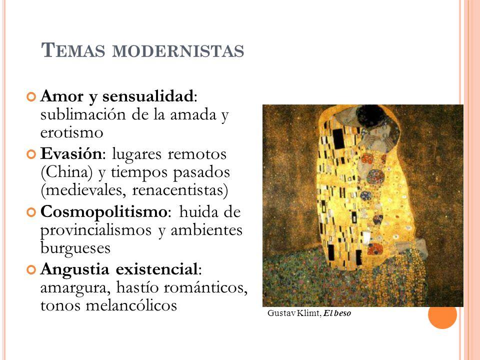 RASGOS FORMALES: POESÍA Renovación métrica: medidas nuevas (alejandrinos, eneasílabos) con estrofas clásicas (sonetos, romances…), verso libre...