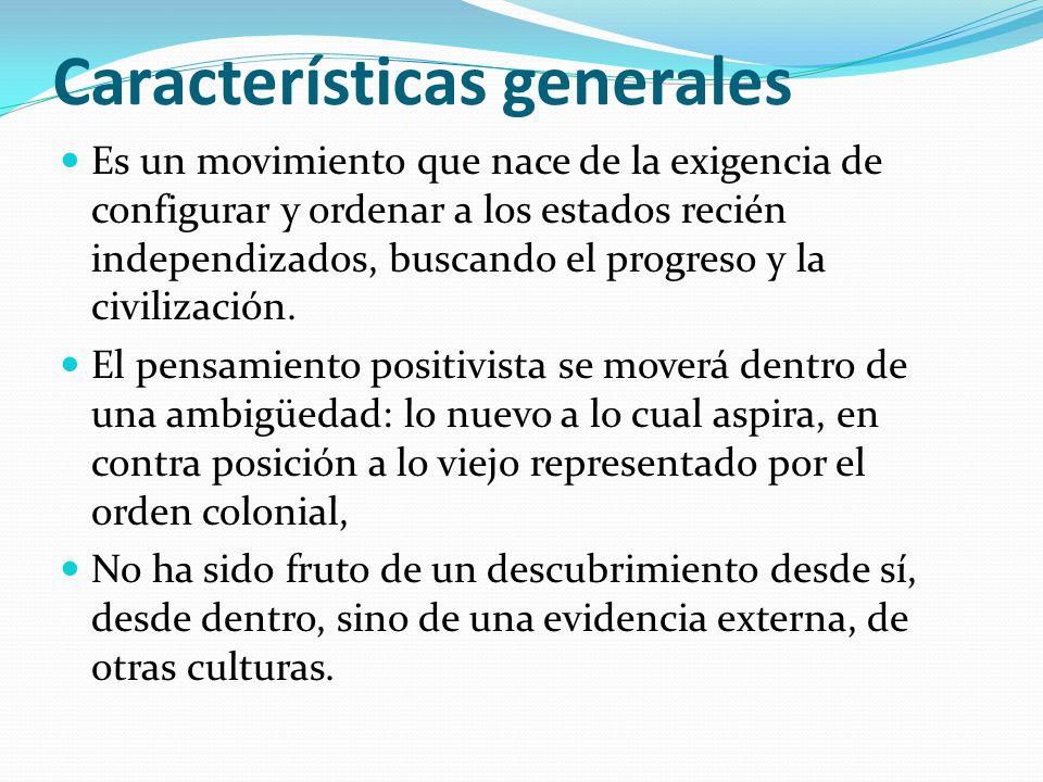 Características generales Es un movimiento que nace de la exigencia de configurar y ordenar a los estados recién independizados, buscando el progreso