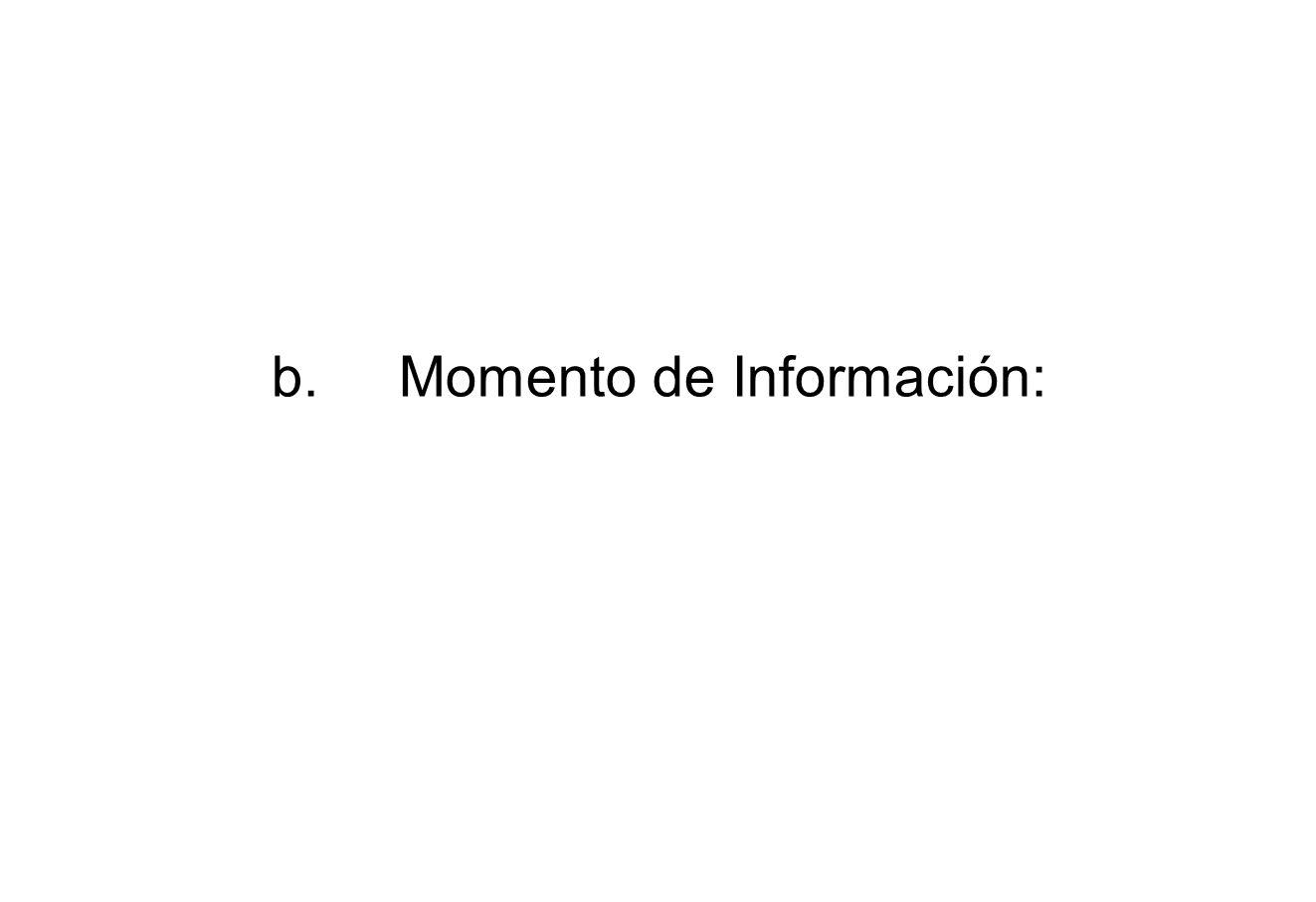 b.Momento de Información:
