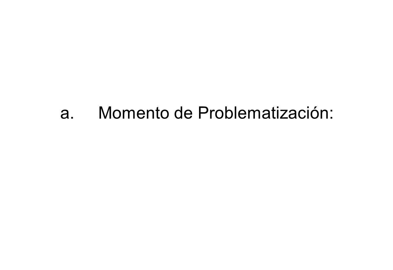 a.Momento de Problematización:
