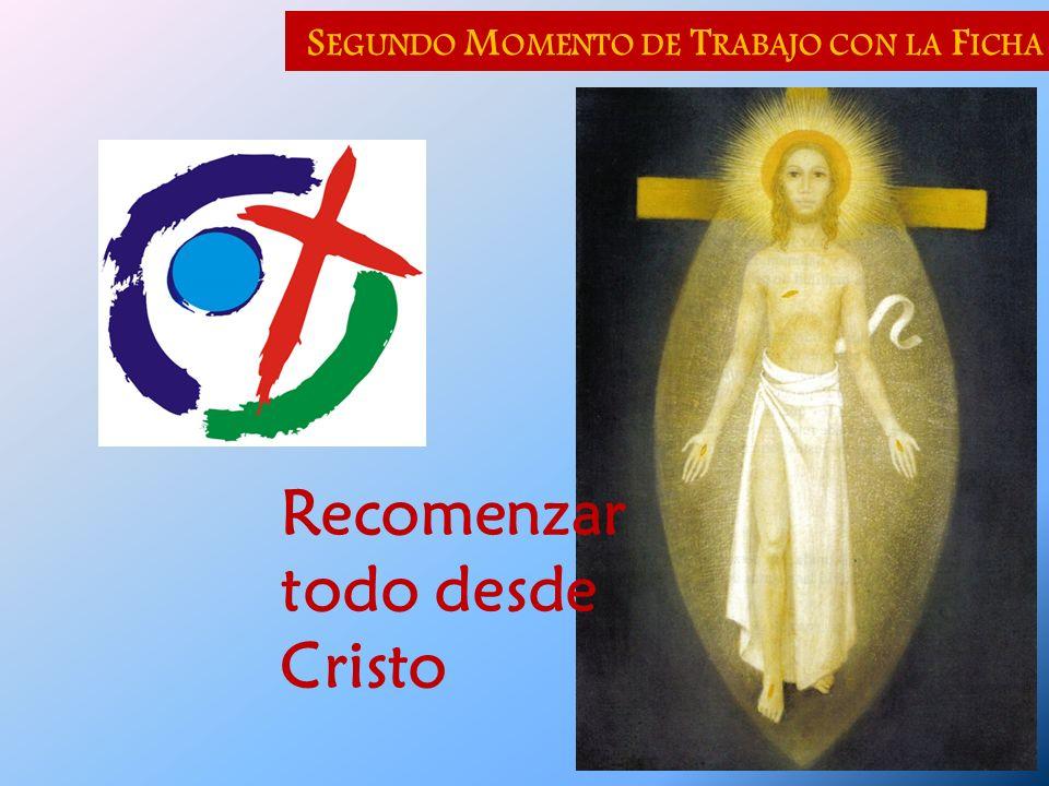 S EGUNDO M OMENTO DE T RABAJO CON LA F ICHA Recomenzar todo desde Cristo