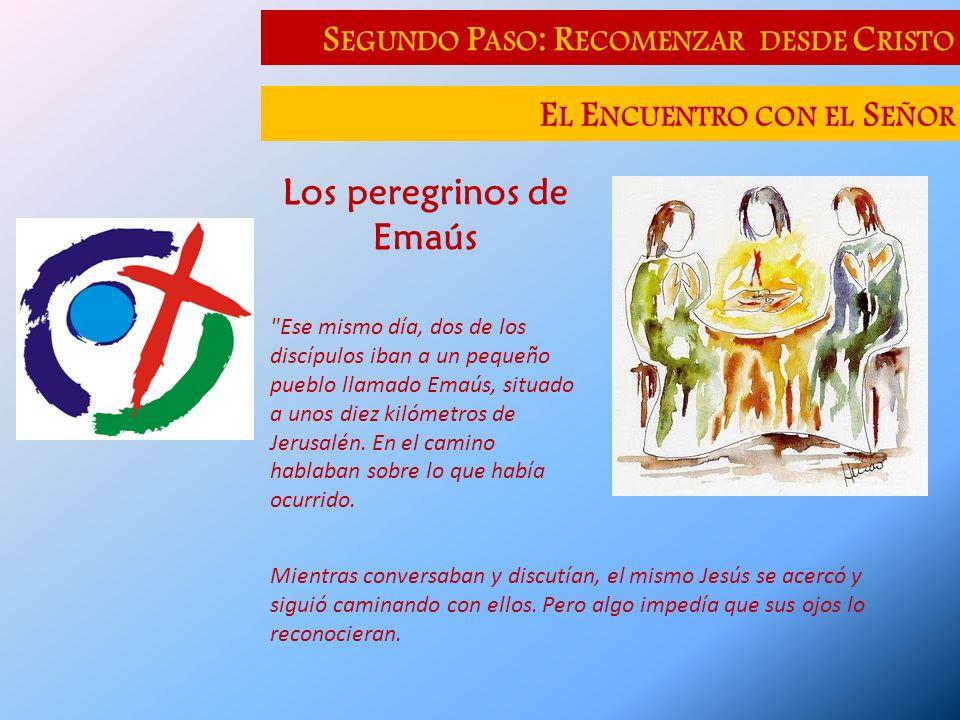 S EGUNDO P ASO : R ECOMENZAR DESDE C RISTO E L E NCUENTRO CON EL S EÑOR Los peregrinos de Emaús