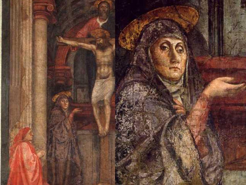 Mientras, las figuras aparecen ante nosotros como si fueran reales e históricas: Cristo, San Juan y la Virgen tienen el mismo tamaño que los donantes.