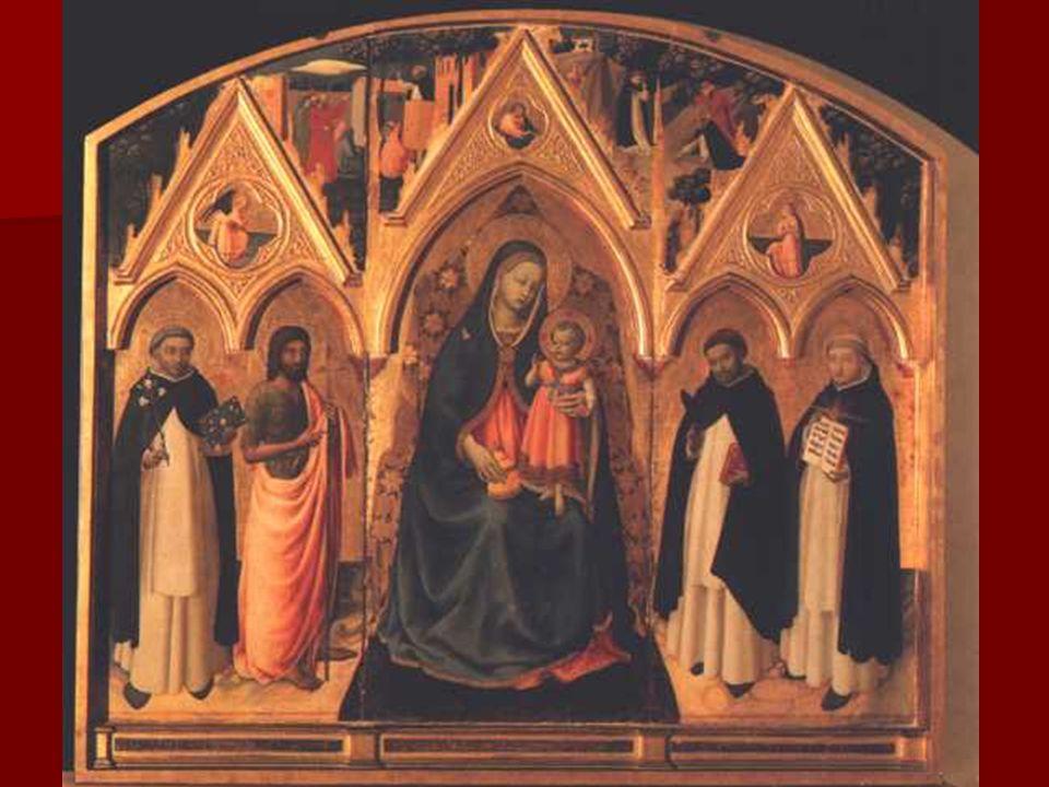 Además, frente a Masaccio, Fra Angélico representa la tendencia del humanismo religioso, que pretende que cada obra sea espejo de la belleza ideal que subyace en los hombres y en las cosas, de una belleza que no procura la temporalidad sino la trascendencia.