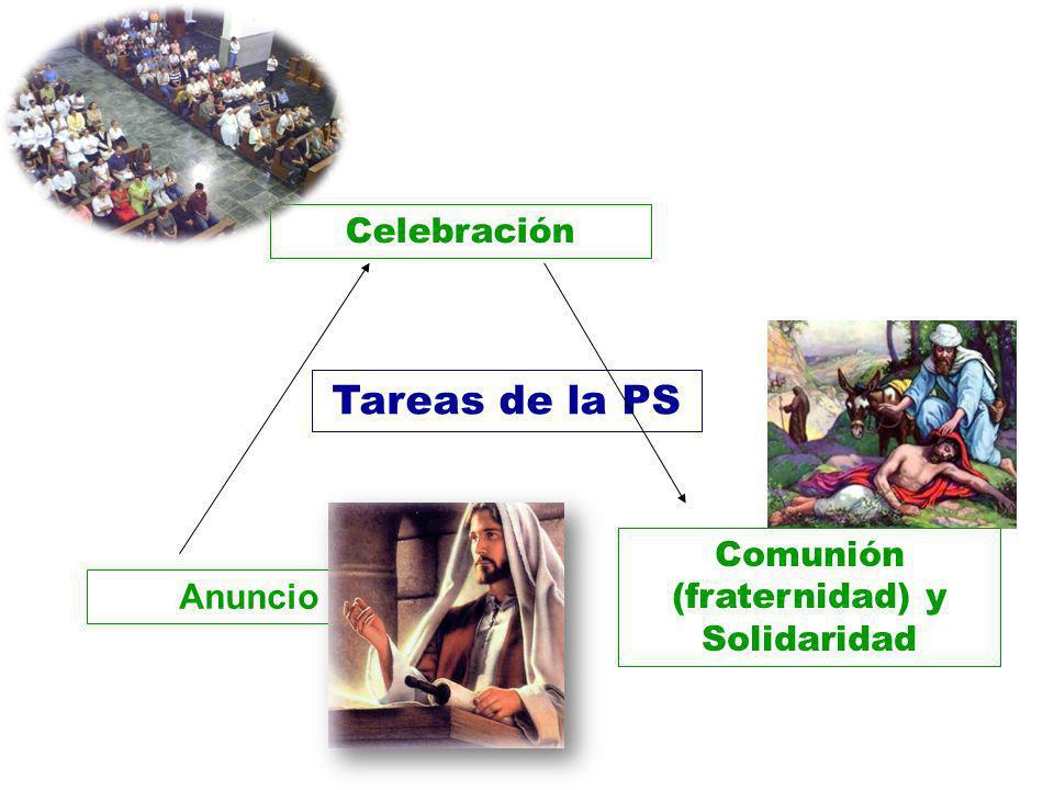 Anuncio Celebración Comunión (fraternidad) y Solidaridad Tareas de la PS
