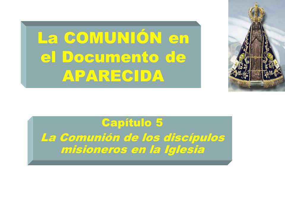 La COMUNIÓN en el Documento de APARECIDA Capítulo 5 La Comunión de los discípulos misioneros en la Iglesia
