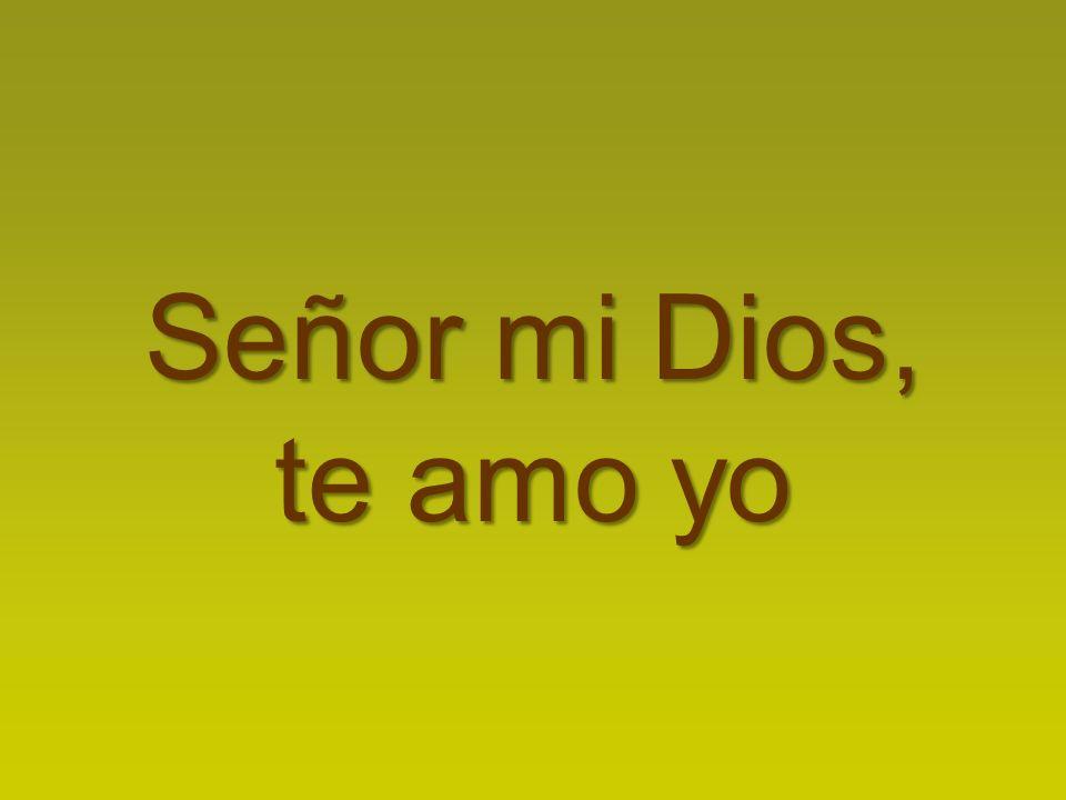 Señor mi Dios, te amo yo