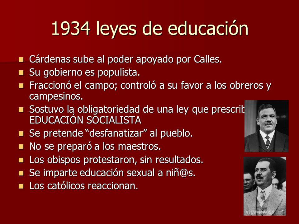 La educación sexual, gran escándalo No era el tiempo propicio; 1935.