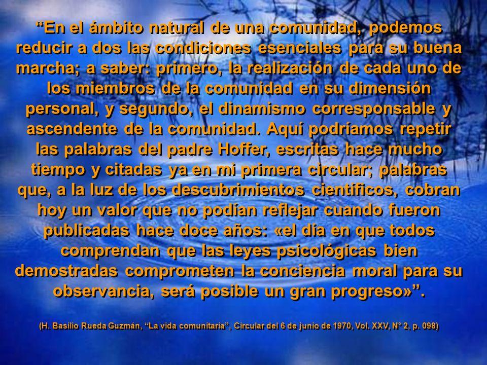H. Basilio Rueda Guzmán, La Vida Comunitaria, Circular del 6 de junio de 1970 Serie meditativa 04 cepam H. Basilio Rueda Guzmán, La Vida Comunitaria,