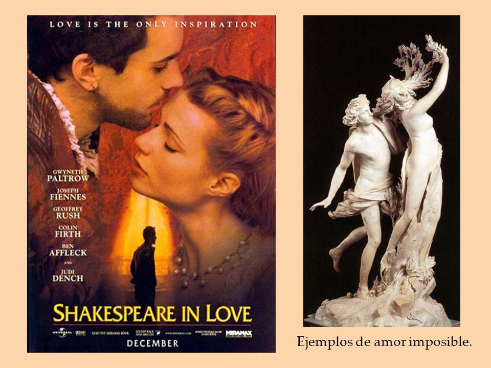 Ejemplos de amor imposible.