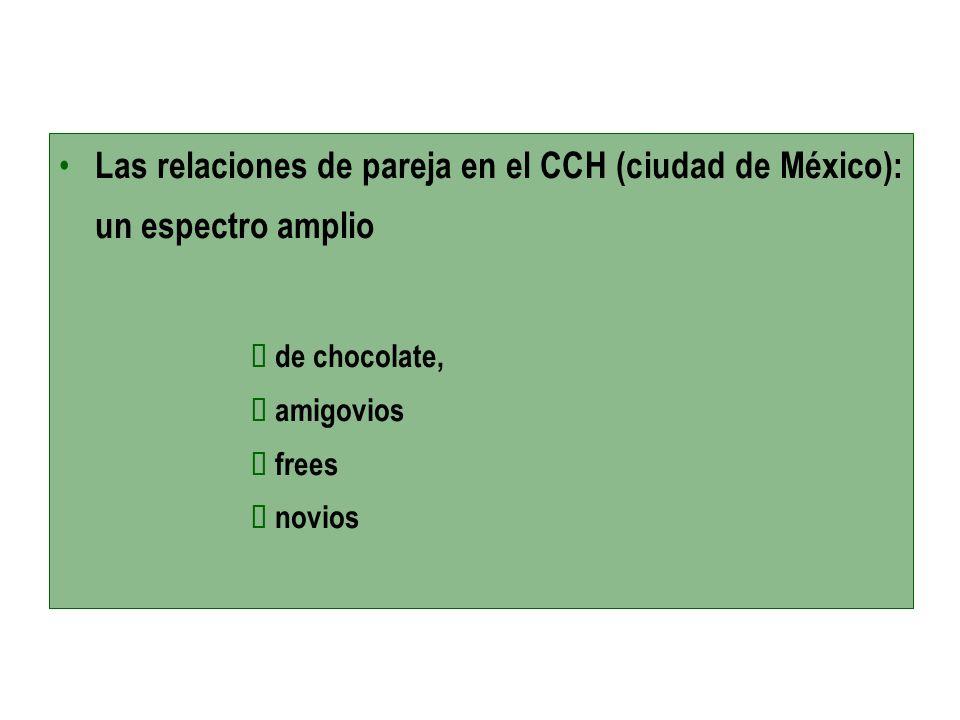 Las relaciones de pareja en el CCH (ciudad de México): un espectro amplio de chocolate, amigovios frees novios