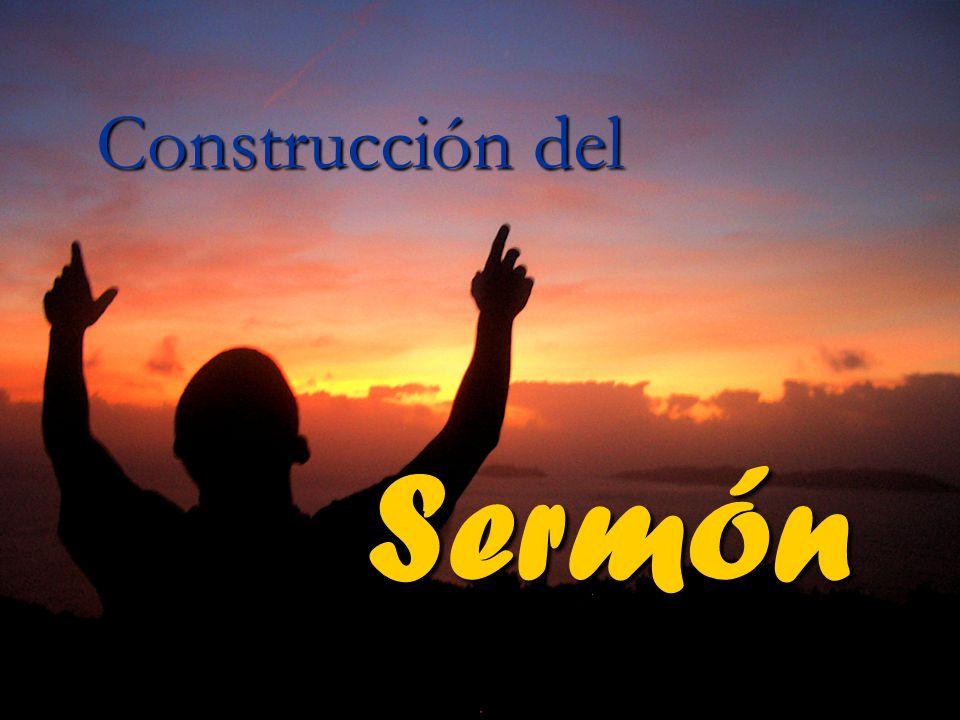 Construcción del Sermón