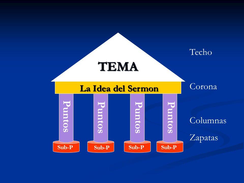 TEMA La Idea del Sermon Puntos Sub-P Techo Corona Columnas Zapatas