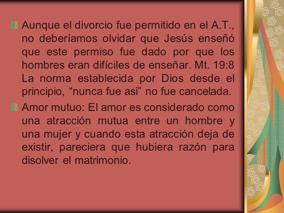 Que dijo Jesucristo? Mt. 19:6. A partir del momento que un hombre y una mujer se unen en matrimonio, dejan de ser dos. Se convierten en uno solo. Por