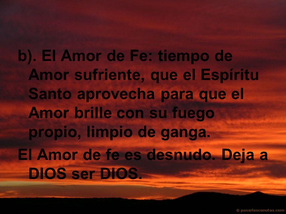 Secretaría Provincial SS.CC. Quito-Ecuador b). El Amor de Fe: tiempo de Amor sufriente, que el Espíritu Santo aprovecha para que el Amor brille con su