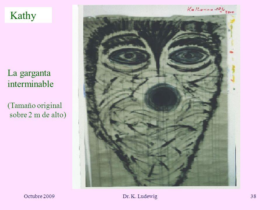 Octubre 2009Dr. K. Ludewig38 La garganta interminable (Tamaño original sobre 2 m de alto) Kathy