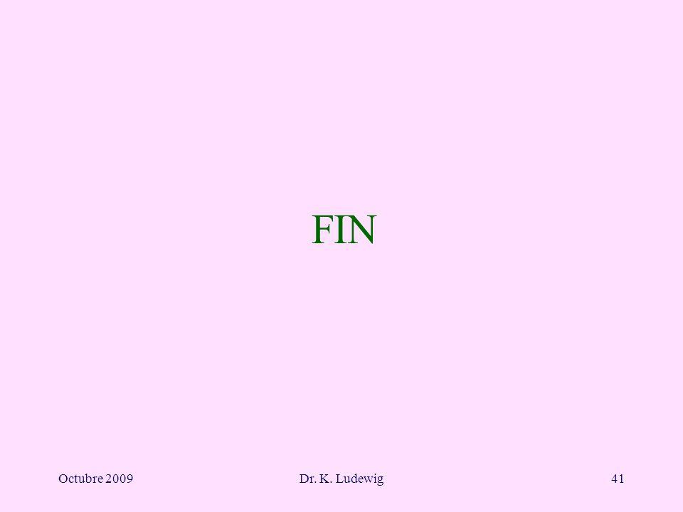 Octubre 2009Dr. K. Ludewig41 FIN