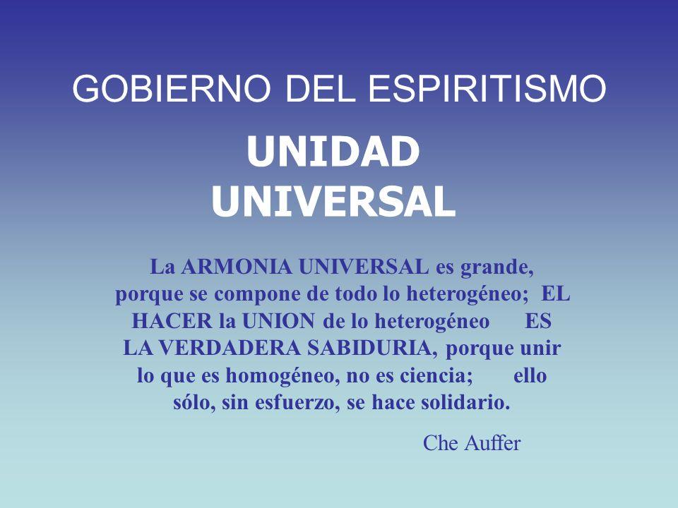 UNIDAD UNIVERSAL La ARMONIA UNIVERSAL es grande, porque se compone de todo lo heterogéneo; EL HACER la UNION de lo heterogéneo ES LA VERDADERA SABIDUR